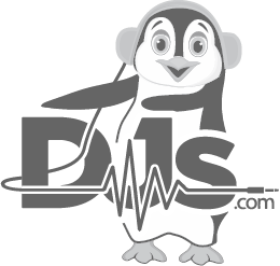 Djs.com Black and White logo
